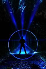 Vitruvian Eddie (LED Eddie) Tags: lightpainting silhouette woods lightpainter vitruvianman lightring ledlenser blinkagain lededdie ubiquitoustoolage