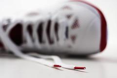 shoe lace (Benny2006) Tags: red white basketball training shoe athletic athletics shoes exercise running athlete shoelace allpurpose aglets