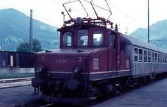 169 003  Oberammergau  06. 1968 (w. + h. brutzer) Tags: analog train germany deutschland eisenbahn railway zug trains locomotive 169 oberammergau lokomotive e69 60erjahre elok eisenbahnen eloks webru