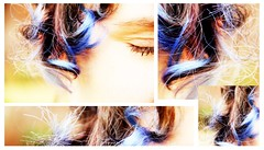 365- Day 152. Curls of blue. (Kyra Elizabeth) Tags: portrait selfportrait self canon project year 365 everyday challenge 60d 365project portraitaday everydayforayear photopluto