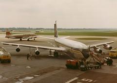 Caledonian Airways Boeing 707 at Gatwick Airport 1968 (WlNGS) Tags: 1969 plane airplane airport aeroporto aeroplane boeing flughafen bp douglas flugzeug aeropuerto airliner gatwick avion bua oiltanker boeing707 lgw aéroport dc6 gatwickairport bac111 propliner karair egkk bcal britishunited caledonianairlines shellandbp