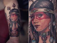 Day 118. (Nigel Bland | GOLDSTARLABS.NET) Tags: tattoo ink photographer traditional nativeamerican okc oklahomacity warpaint realism tattooartist joshreynolds cannibalgraphics goldstarlabs nigelbland