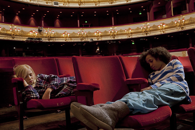 Children asleep in the main auditorium of the Royal Opera House © ROH 2012