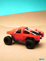 Trophy Truck (ZetoVince) Tags: red car truck greek desert lego offroad suspension vince racing vehicle trophy baja minifig prerunner zeto zetovince dreamdealer