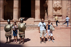 Tourists - Petra, Jordan (Maciej Dakowicz) Tags: tourism country petra middleeast landmark tourist unesco arabic jordan arab arabia historical attraction thetreasury alkhazneh kingdomofjordan