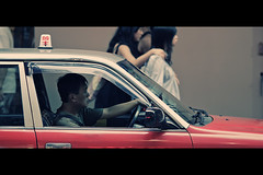 For hire (Maxim Chechin) Tags: street hk cinema canon movie hongkong candid taxi driver cinematic 135mm forhire 1dm4