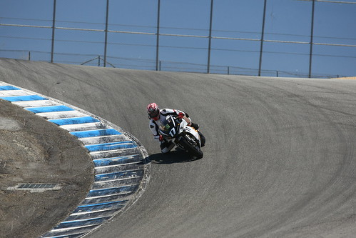 Steve Rapp on the Mission R - Corkscrew - Laguna Seca - June 26, 2011