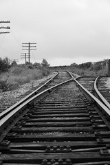 Choices Choices (trouble4dan) Tags: bw train canon tracks kitchener direction choice split hydropoles trouble4dan