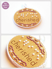 "Braille Pendant ""Cherished"""