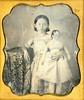 Girl With Large Doll Daguerreotype (Mirror Image Gallery) Tags: daguerreotype antiquedoll victorianchildren victoriantoy