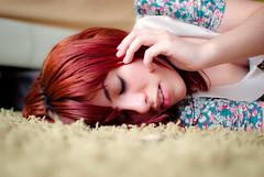 (Isai Alvarado) Tags: flowers portrait cinema blur hot sexy film girl 35mm movie carpet bed bedroom nikon focus dof bokeh sleep room cine lips van cinematic redhair dx vanya d80