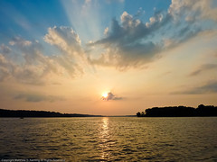 On the Water (MattPenning) Tags: family sunset sky clouds potd panasonic gathering familygathering skyclouds ontheboat decaturillinois mattpenning lakedecatur penningphotography bykarenpenning zs3 panasonicdmczs3