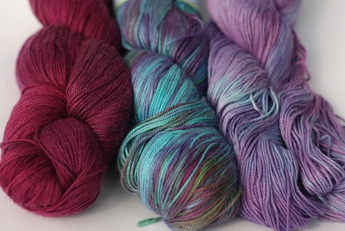 3IG Bamboo Cotton Fingering Bramble and Funny Girl and Charmed