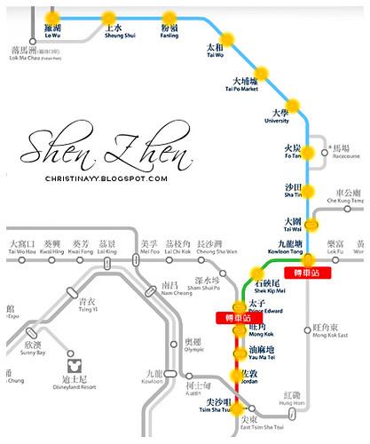MTR from Hong Kong To Shen Zhen