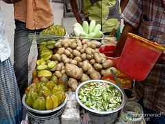 Star Fruit and Potatoes Food Stand - Khulna, Bangladesh (uncorneredmarket) Tags: food fruitstand streetfood bangladesh foodstand dpn khulna