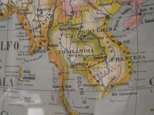Asia 1943. Mapas Paluzíe