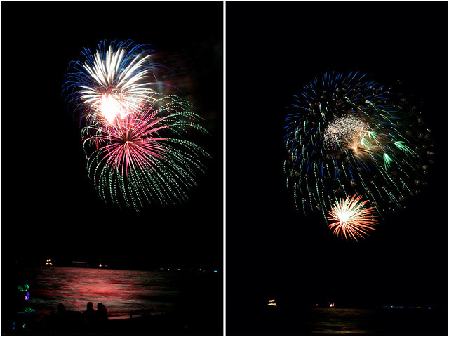 July 4th fireworks diptych 7