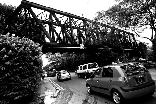 Black Truss Bridge across Upper Bukit Timah Road