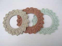 natural dye crochet hoops (baban cat) Tags: wales handmade crochet photoframe organiccotton crochetframe crochethoops