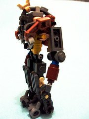 Copper Knight- side (Soul-) Tags: lego guns mecha mech steampunk hardsuit