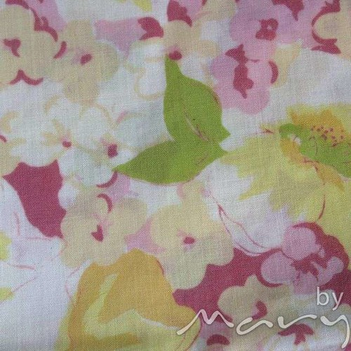 Vintage pillowcases - pink/yellow floral