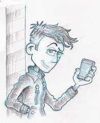 Young Man - Pose 03 - pencilled