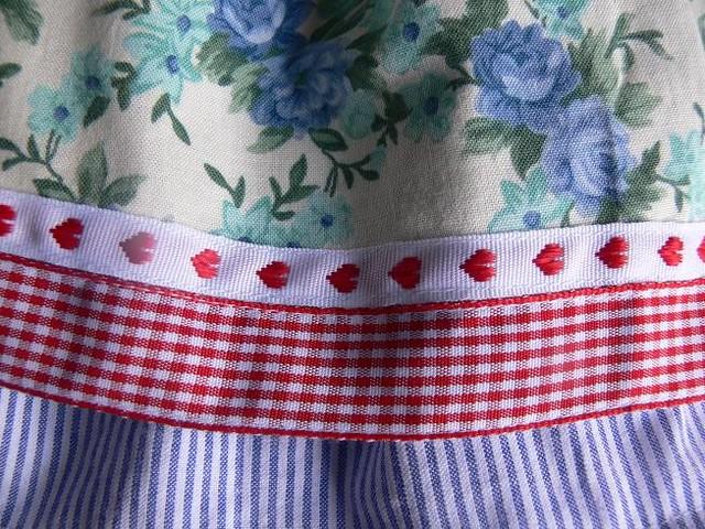 blue roses skirt