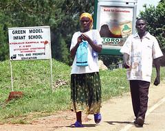 Green Model Infant School (cowyeow) Tags: africa road street school people green sign walking marketing model education infant funny couple african badsign uganda kampala fortportal funnysign oldsign promote toil funnyafrica greenmodel