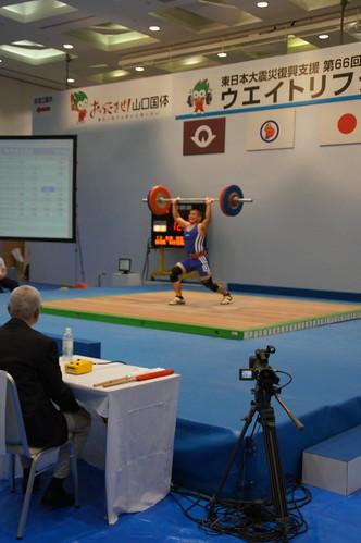 【山口国体】 杉本知生選手 C&J120kgの試技