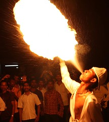 6 play with Fire (EYE & POETRY) Tags: mangalore hulivesha kudrilidasara