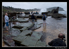 sunrise  - forresters beach15-10-11_083-Framed (DoctorJ73) Tags: sun beach water sunrise canon eos james coast rocks waves central 7d danny sundance splash cocean forresters