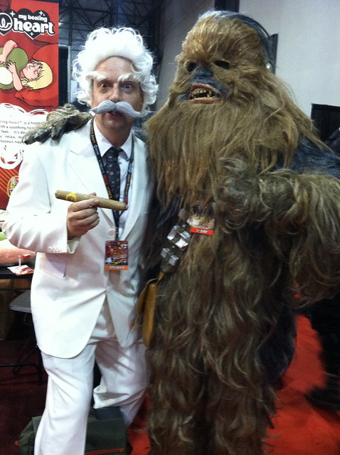 Michael Kupperman as Mark Twain at the New York Comic-Con