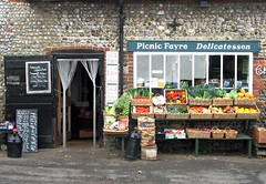 Picnic Fayre (Louise and Colin) Tags: old uk england english history shop cheese rural britain pies british flint cley fruitandveg cleynextthesea tofelbrigg picnicfayredelicatessen onthecoastroad