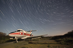 Nothing Could Keep Me From This ([Nocturne]) Tags: nightphotography lightpainting abandoned plane photo aviation nocturne raf earthandspace noctography xs738 hawkersiddeleydominie competition:astrophoto=2013