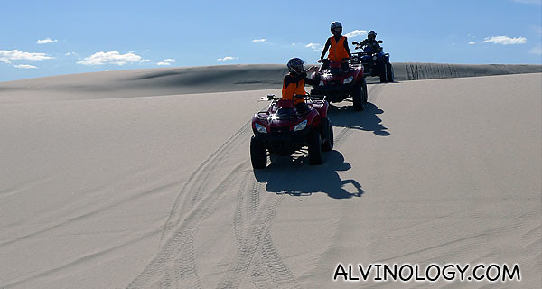 Traveling up and down dune after dune