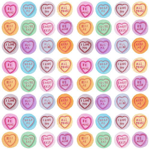 Love hearts pattern by Laura Manfre