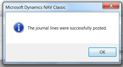 General Journal Error - Journal Posted
