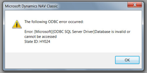 Error: The following ODBC error occurred: [Microsoft][ODBC SQL
