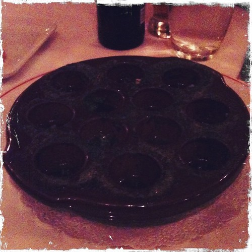 empty pan where escargot used to be