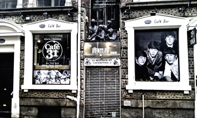Liverpool. The Beatles cafe