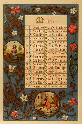 003-Santoral de Marzo-Les évangiles des dimanches et fêtes de l'année –Vol 1- 1864- Leon Curmer