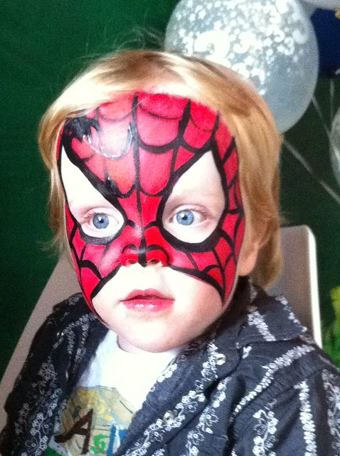 Liam's first painted face