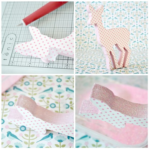 Polka dot wooden deer steps 5-8
