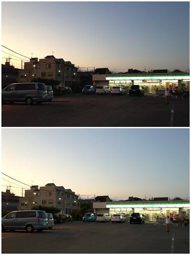 iPhoneのHDRサンプル:夕暮れの風景