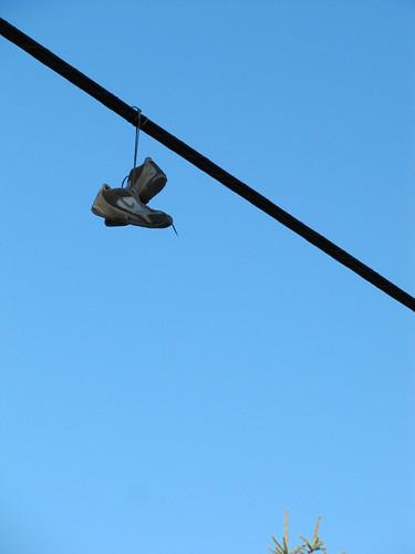 Shoefiti on 22nd St NE