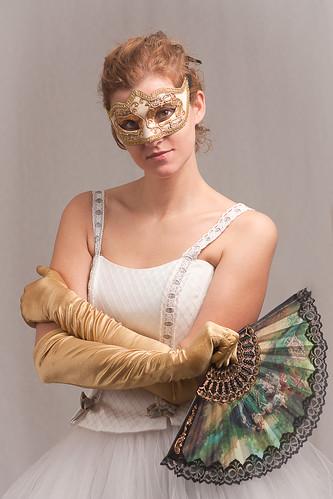 無料写真素材, 人物, 女性, ワンピース・ドレス, 仮面・マスク