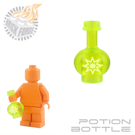 Potion Bottle - Trans Neon Green (Enhance Magic)