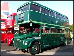 London transport Greenline RMC4 (CRL4)  Brooklands 23/10/11. (Ledlon89) Tags: bus london buses coach transport routemaster greenline lt leyland rmc londonbus ecw vintagebus
