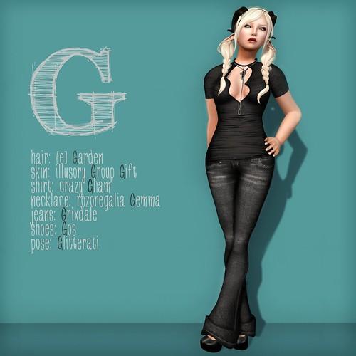 Alphabet Challenge - G