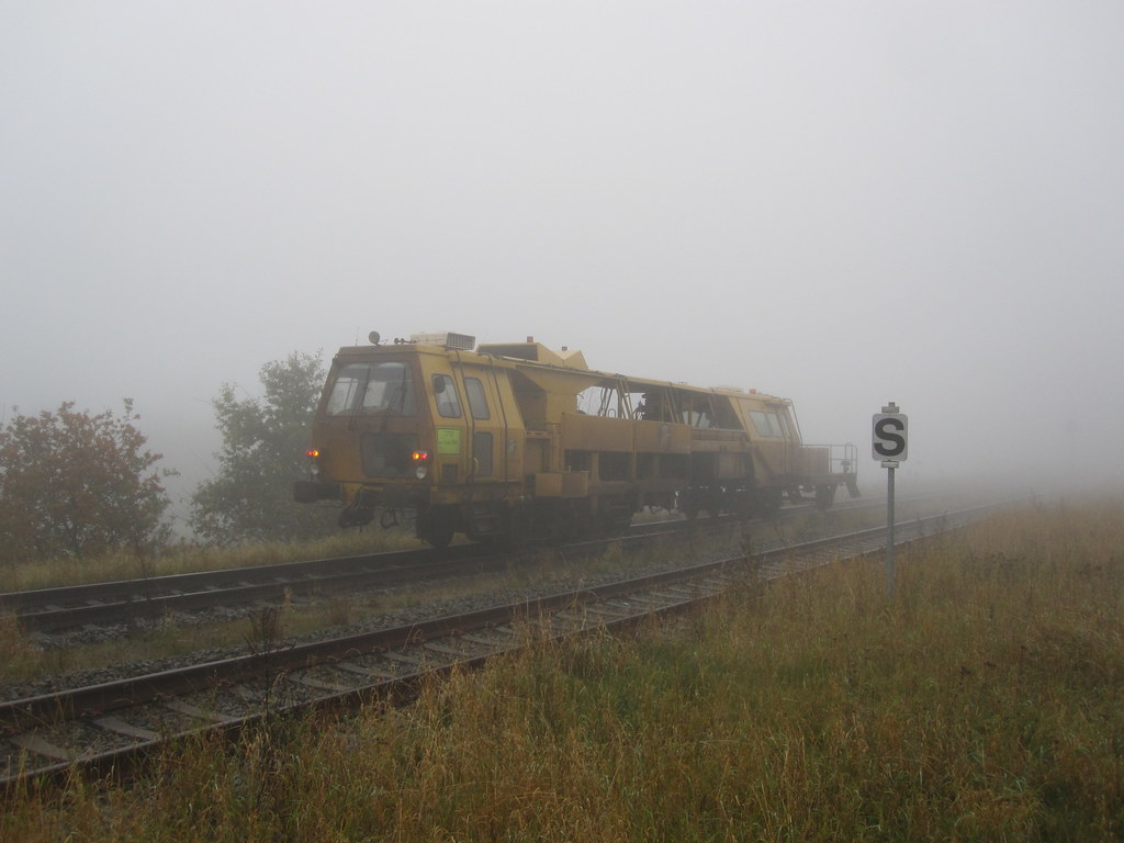 Train and fog